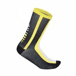 Zerorh+ Logo 15 Sock Black/Yellow Fluo - Calzini invernali