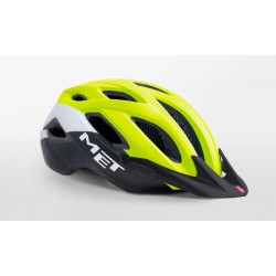 MET CROSSOVER Safety Yellow Black Matt - Casco active 2018